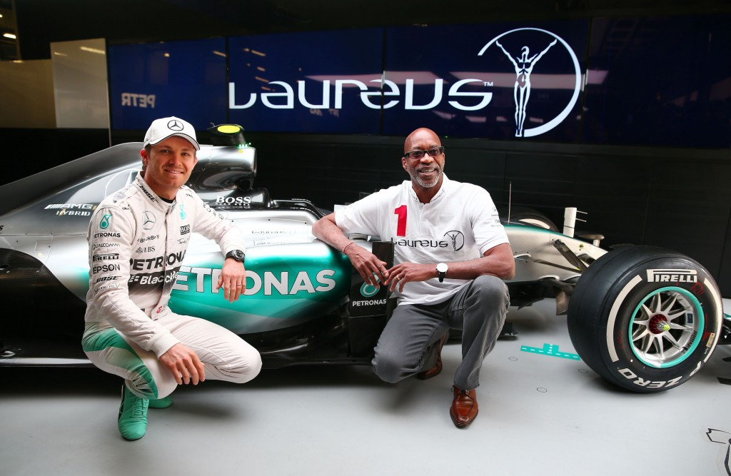 during a Laureus photocall ahead of the Chinese F1 Grand Prix at Shanghai International Circuit on April 11, 2015 in Shanghai, China.